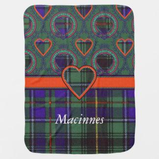 Macinnes Clan karierter schottischer Tartan Babydecke