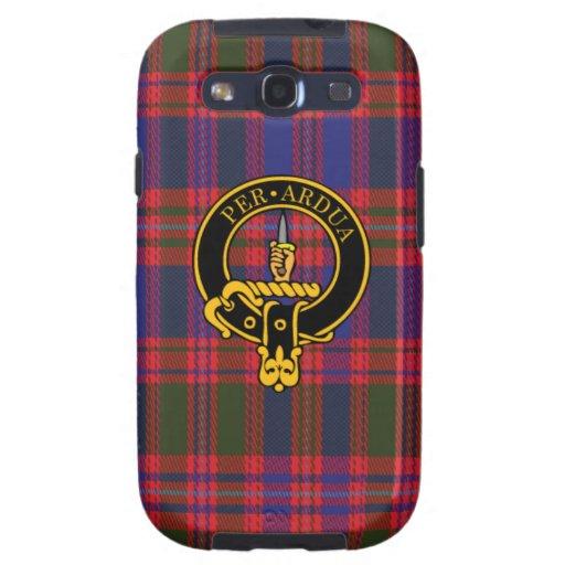 Macintyre schottisches Wappen und Tartan S3 rufen Galaxy S3 Etui