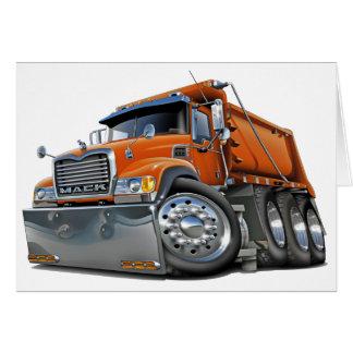 Mack Kipper-Orange Karte