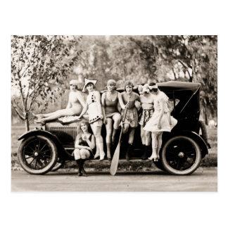 Mack Sennett Mädchen 1918 Vintag Postkarte