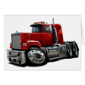 Mack Superliner-Rot-LKW Karte