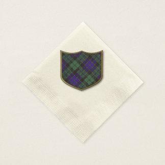 Mackay Clan karierter schottischer Tartan Serviette