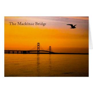 Mackinac Bridge at Sunset