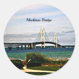 Mackinac Brücke, Mackinac Insel Runder Aufkleber