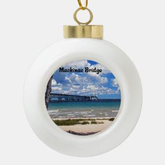 Mackinac Brücke Michigan Keramik Kugel-Ornament