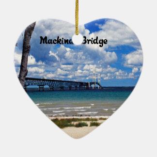 Mackinac Brücke Michigan Keramik Ornament