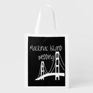 Mackinac Insel-Hochzeit Einkaufsbeutel