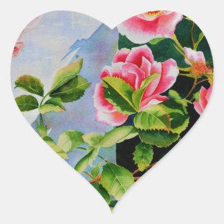 Mackinac Rose Herz-Aufkleber
