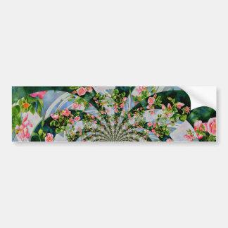 Mackinac Rose Mandala Autoaufkleber