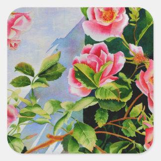Mackinac Rose Quadratischer Aufkleber