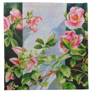 Mackinac Rose Serviette