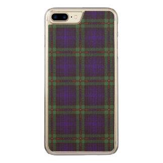 Mackinlay Clan karierter schottischer Tartan Carved iPhone 8 Plus/7 Plus Hülle