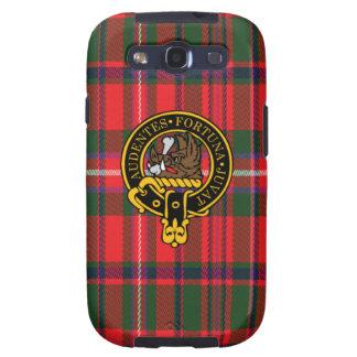 Mackinnon schottisches Wappen und Tartan S3 rufen Etui Fürs Galaxy S3