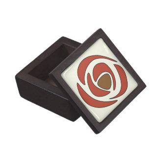 Mackintosh-Granatapfel-Kunst Nouveau Rosen Schachtel