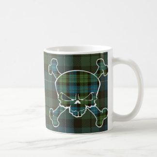 MacKirdy Tartan-Schädel keine Fahne Kaffeetasse