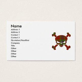 MacLean Tartan-Schädel keine Fahne Visitenkarte