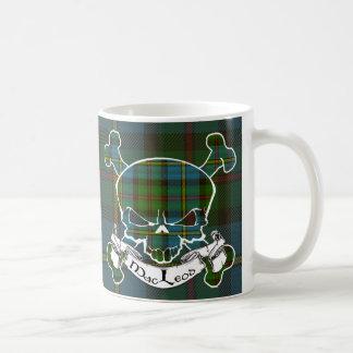 MacLeod Tartan-Schädel Kaffeetasse