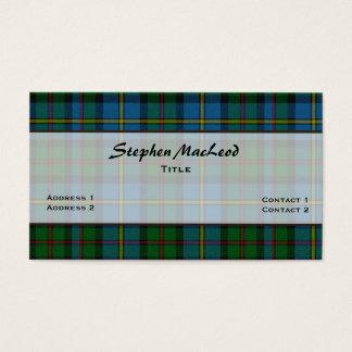 MacLeod traditioneller Tartan-karierte Gewohnheit Visitenkarte