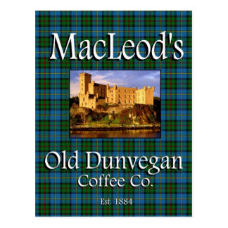 MacLeods alte Dunvegan Postkarte Kaffee-Co.