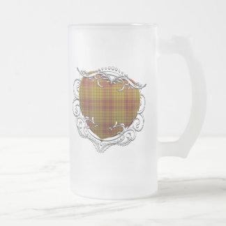 MacMillantartan-Herz Mattglas Bierglas