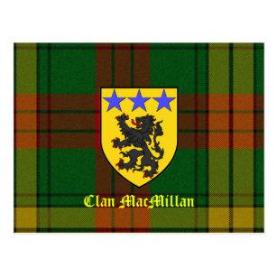 MacMillantartan-Wappen Postkarte