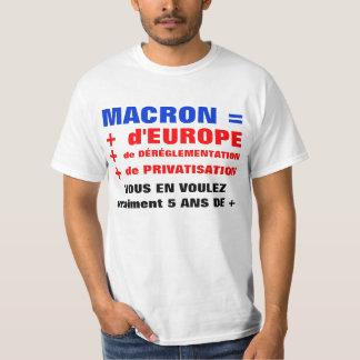 MACRON = Liberalisierung = Globalisierung T-shirt