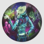 Mad Mad Zombies!!! Round Stickers