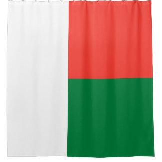 Madagaskar-Flagge Duschvorhang