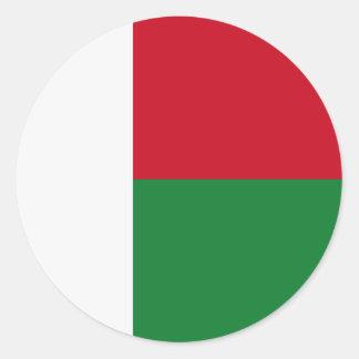 Madagaskar-Flagge Runder Aufkleber