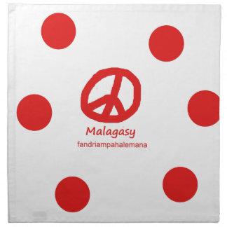 Madagassische Sprache und Friedenssymbol-Entwurf Serviette