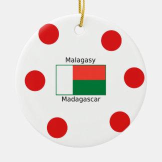 Madagassische Sprache und Keramik Ornament
