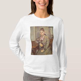 Madame Cezanne Leaning auf einer Tabelle, 1873-77 T-Shirt