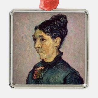 Madame Jeanne Lafuye Trabuc Vincent van Gogh-| Quadratisches Silberfarbenes Ornament