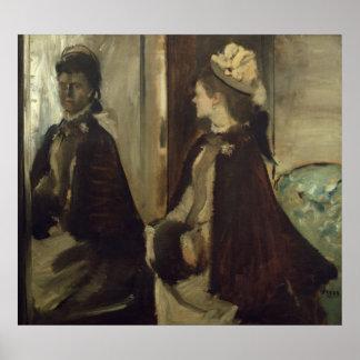 Madame Jeantaud Edgar Degas-| im Spiegel Poster