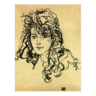 Madame Sohn Egon-Schiele- Postkarte