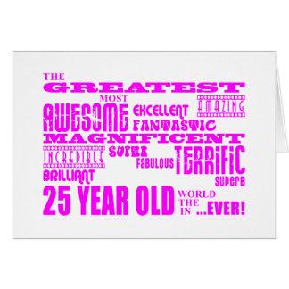 Mädchen-25. Geburtstage rosa bestste Karte
