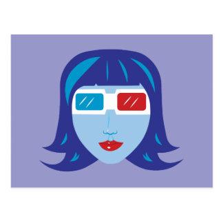 Mädchen 3D Postkarte