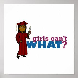 Mädchen-Abschluss im Rot Poster