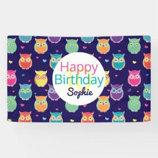 Mädchen-alles- Gute zum Geburtstagblaues Banner