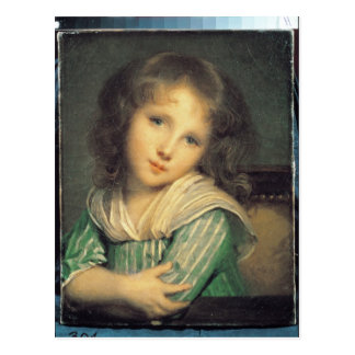 Mädchen am Fenster Postkarte