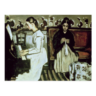 Mädchen am Klavier, 1868-69 Postkarte