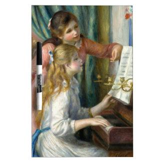 Mädchen am Klavier Trockenlöschtafel