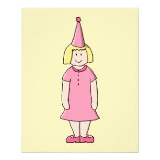 Mädchen an einer Geburtstags-Partei 11,4 X 14,2 Cm Flyer