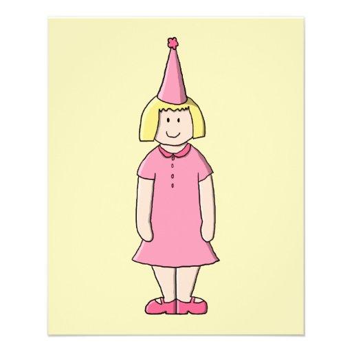 Mädchen an einer Geburtstags-Partei Individuelle Flyer
