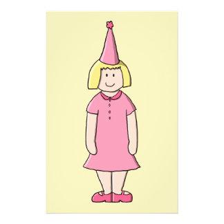 Mädchen an einer Geburtstags-Partei 14 X 21,6 Cm Flyer