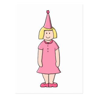 Mädchen an einer Geburtstags-Partei Postkarte