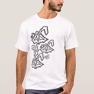 Mädchen-angepasstes gestreiftes einfaches T-Shirt
