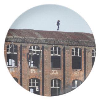 Mädchen auf dem Dach 02,2, verlorene Plätze Teller