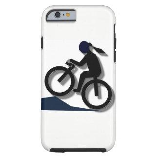 Mädchen auf dem Fahrrad Tough iPhone 6 Hülle