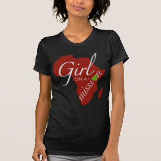 Mädchen auf einer Dienstreise - Afrika T-Shirt
